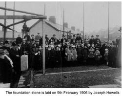 Laying the foundation stone in 1906